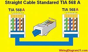 Straight Through Cable Color Code Wiring Diagram A  Avec