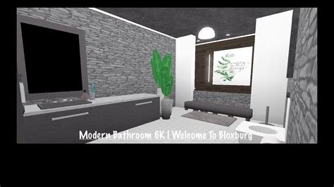 modern bathroom    bloxburg youtube