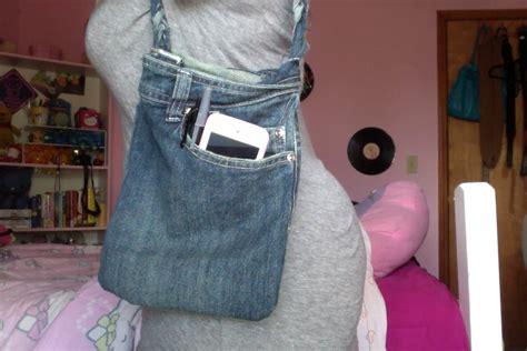 diy turn jeans   purse youtube