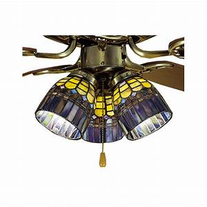 Ceiling fan with tiffany glass history best price on