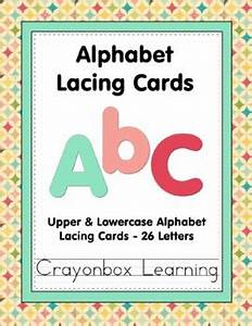 alphabet lacing cards 26 upper and lowercase letters by With letter lacing cards