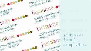 cute personalized return address label template With cute address labels free