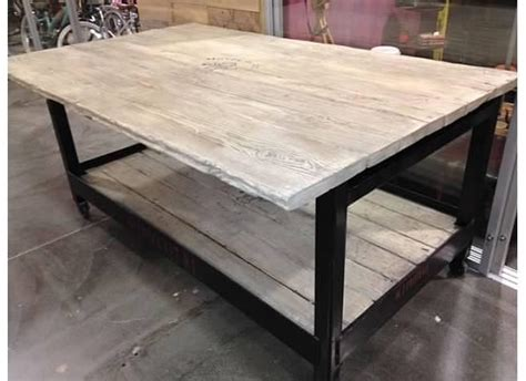 kitchen island metal reclaimed wood and metal kitchen island heirlooms and