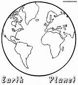 Earth Coloring Planet Pages Colouring Coloringway Getdrawings Colorings Source sketch template