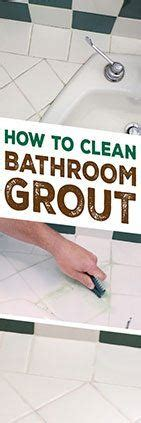 cleaning tips bathroom grout