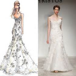 wedding dress design designer wedding gowns from sketch to dress brides