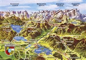 Bavarian Alps Mountains Map