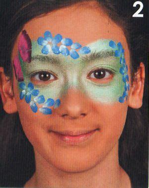 blumen schminken kinderschminken schminken anleitung
