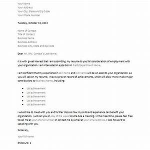 letter of interest or inquiry four sample downloadable With cover letter for future positions