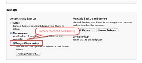 how to encrypt iphone how to turn backup encryption in itunes