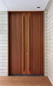 Porte D U0026 39 Entr U00e9e En Bois Massif  Parement Ext U00e9rieur En