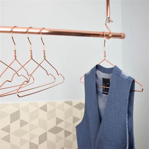 Copper clothes hanging rail by proper copper design   notonthehighstreet.com