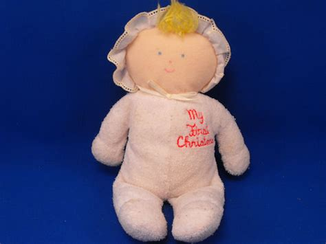 Eden Blond My First Christmas White Terry Doll