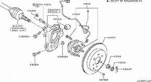 43206-1lb0a - Disc Brake Rotor  Rear   Awd