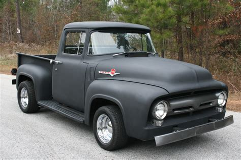 truck car 56 f100 like the concept flat black paint cars