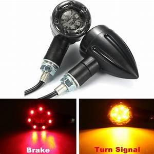 Pair Universal Motorcycle Led Turn Signal Indicators Light