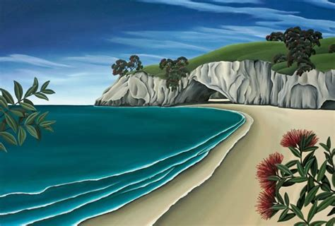 pohutukawa cave canvas art print  diana adams