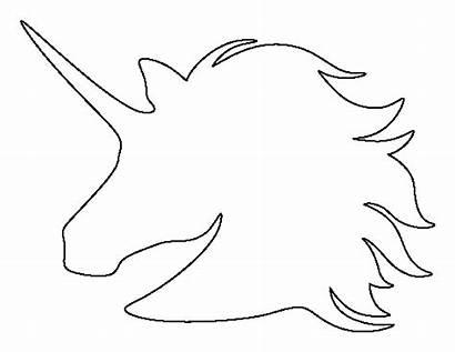 Unicorn Outline Printable Head Pattern Template Pumpkin
