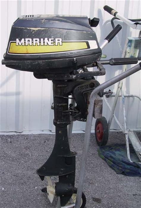 Boat Motors Air Cooled by Used Mariner 5 Hp Outboard Boat Motor Air Cooled