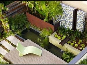 contemporary garden design ideas youtube With amazing fontaine exterieure de jardin moderne 7 decoration terrasses jardins