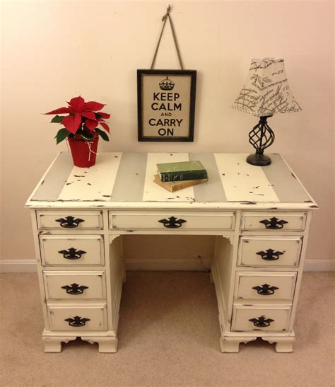 how to shabby chic furniture with chalk paint shabby chic annie sloan chalk paint desk with chippy paint by furniture alchemy distressed desk