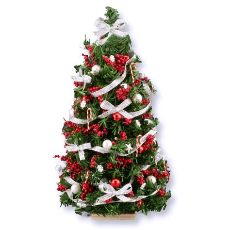 7 inch lighted silver red ultimate christmas tree