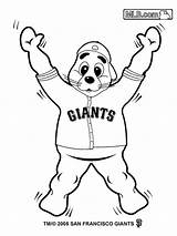 Giants Sf Coloring Pages Giant Baseball Printable Getcolorings sketch template