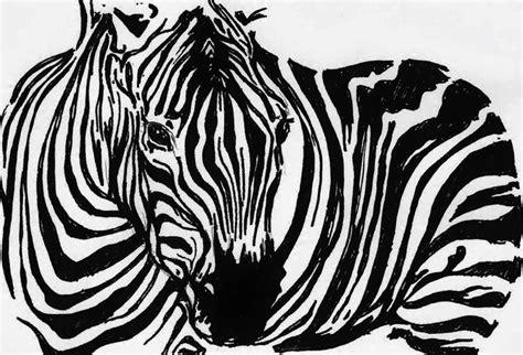 zebra  drawing  maria changalidi absoluteartscom