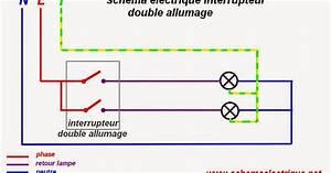 Eclairage Sans Branchement Electrique : schema electrique schema branchement cablage interrupteur double allumage ~ Melissatoandfro.com Idées de Décoration