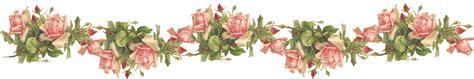Catherine Klein: Pink Roses Digital Elements Cenefas