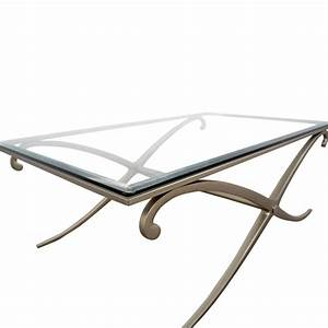 90 off glass and pewter coffee table tables With pewter glass coffee table