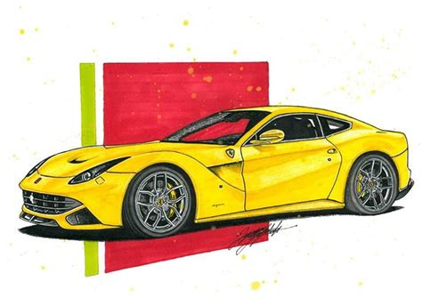 ferrari drawing ferrari f12 car drawing cardrawings portraits crtezi