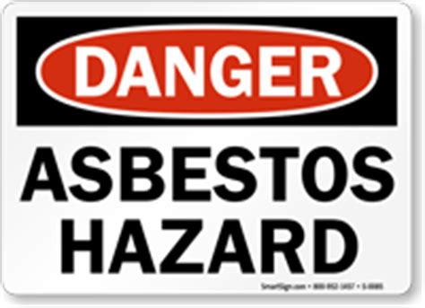 asbestos hazard sign ships fast  sku