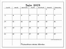 Calendrier juin 2019 77LD