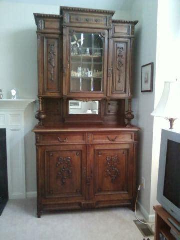 english oak cabinet cupboard bar  pieces  glass door mirror ft  sale  apex north