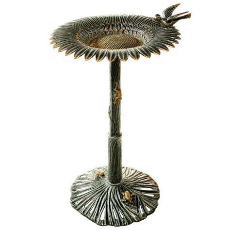 sunjoy cast aluminum bronze bird bath 110307002 the home