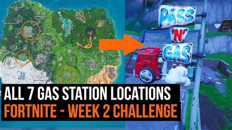 gas station locations fortnite season  week