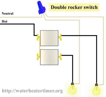 Two Way Rocker Switch Wiring Diagram by How To Wire Rocker Switch Use 3 Receptacle