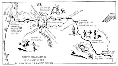 The Route Of Lewis And Clark Worksheets