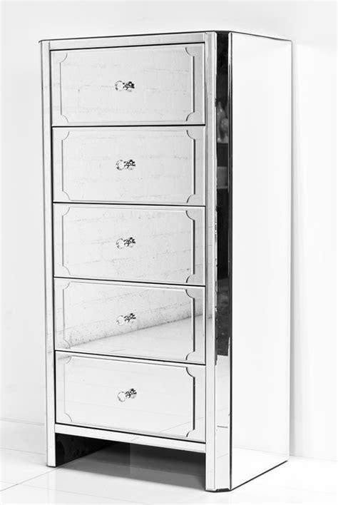 Mirrored Tall Dresser www roomservicestore com regency all mirror 5 drawer