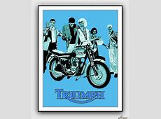 Triumph Motorcycle 1960 Vintage Advertising Poster