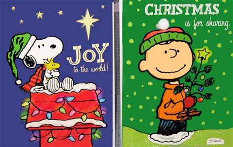 snoopy christmas images peanuts card set snoopn4pnuts