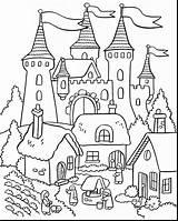 Medieval Castles Drawing Castle Coloring Printable Pages Cinderella Real Getdrawings sketch template