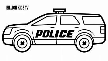 Police Coloring Pages Cars Drawing Suv Colouring