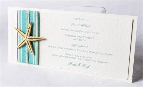 beach wedding invitation diy kit island starfish dl