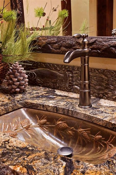 Rustic Cabin Bathrooms by What A Beautiful Sink Rustic Cabin Bathrooms Log