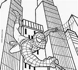 Spiderman Coloring Printable Cool2bkids sketch template