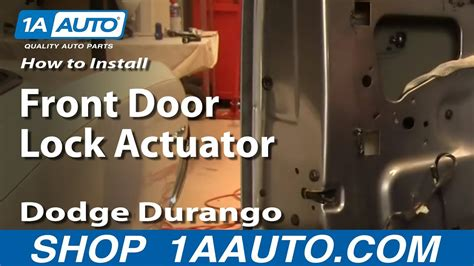 replace front door lock actuator   dodge