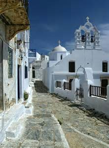 narrow lot houses chora amorgos walk windmills