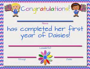 Girl Scout Daisy Certificate Printable Free